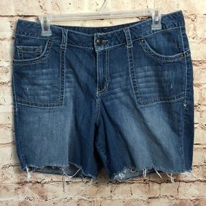 Lane Bryant sz 18 cutoff denim blue jean shorts